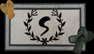 Custom Door Mat - Welcome Home - Monogram - Can be personalized and made custom - Full color printing available - Font Choice