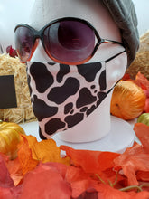 Load image into Gallery viewer, MOOOOOOOO Face Mask, Custom With Your Name, 2 layer pocket mask with filter, adjustable ear clip, personalized & washable, reusable