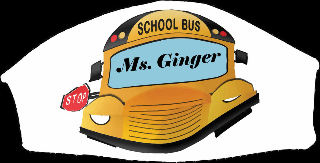 School Bus Face Mask - Custom With Your Name