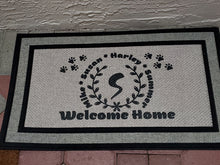 Load image into Gallery viewer, Custom Door Mat - Welcome Home - Monogram - Can be personalized and made custom - Full color printing available - Font Choice