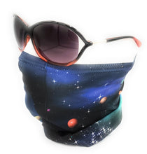 Cargar imagen en el visor de la galería, Neck Gaiter, Space Bowling Theme, Comfortable Face Cover, Breathable, Can be Personalization Optional - Full or Half Size Available