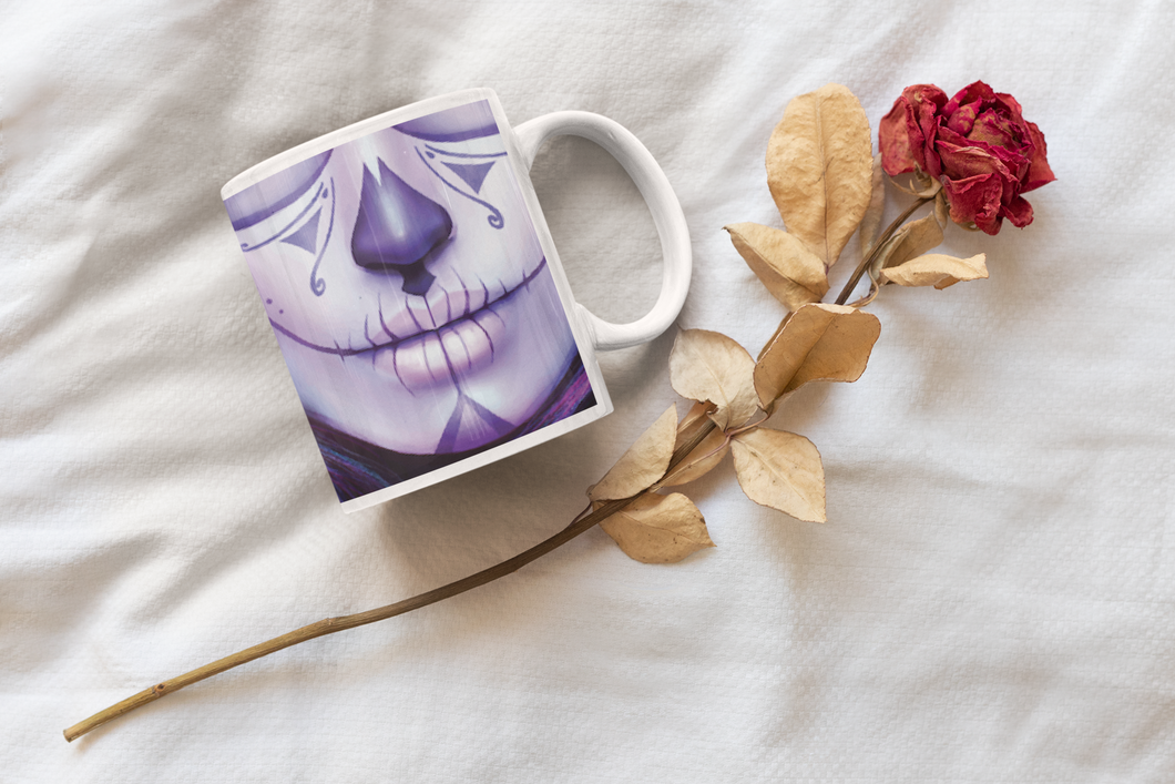 Purple Kiss Coffee Mug with Personalized Message for a Coffee Cup Lover