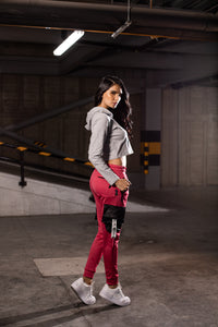 Women's Red/Black Joggers Outfit