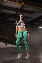 Load image into Gallery viewer, Women's Green Joggers Outfit