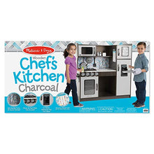 Load image into Gallery viewer, Melissa & Doug Wooden Chef's Pretend Play Toy Kitchen – Charcoal
