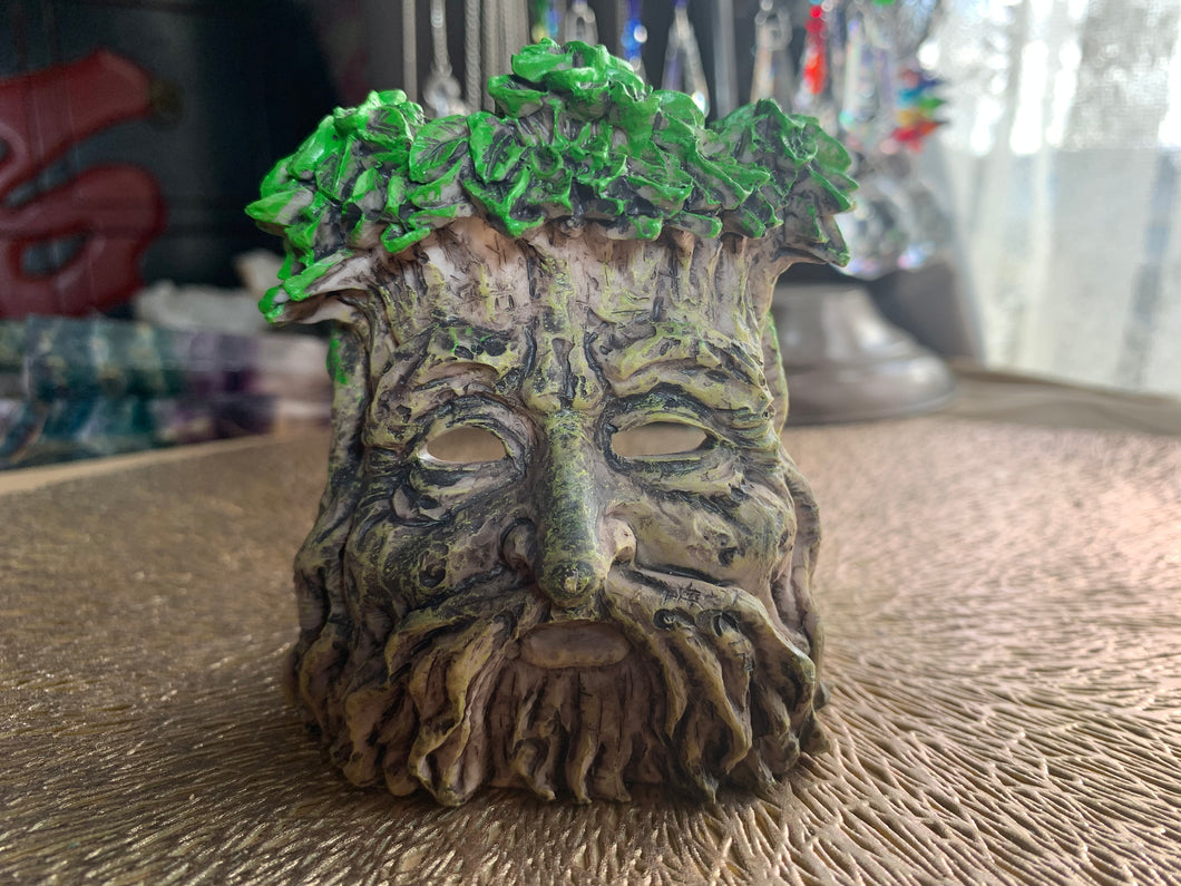 Greenman Tea light candle and Incense Holder