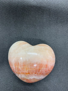 Banded Pink Calcite Puffy Heart