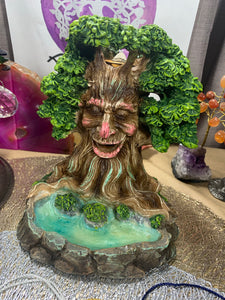 Greenman Incense Backburner