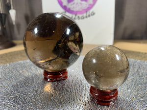 Smoky Quartz Spheres