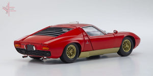 Kyosho - Lamborghini Miura S (Red/gold)(08316R) 1:18 Scale Diecast Model Car