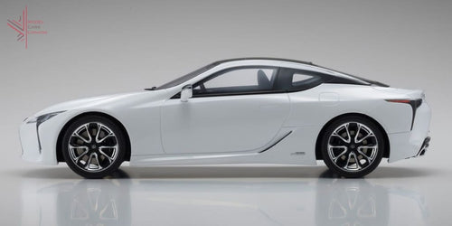Kyosho - Lexus Lc500H Hybrid (White Nova Glass Flake)(Ksr18024W) 1:18 Scale Model Car