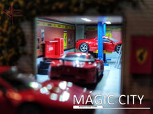 Load image into Gallery viewer, Magic City - Ferrari Garage Diorama (110008)(Comes With Accessories) 1:64 Scale