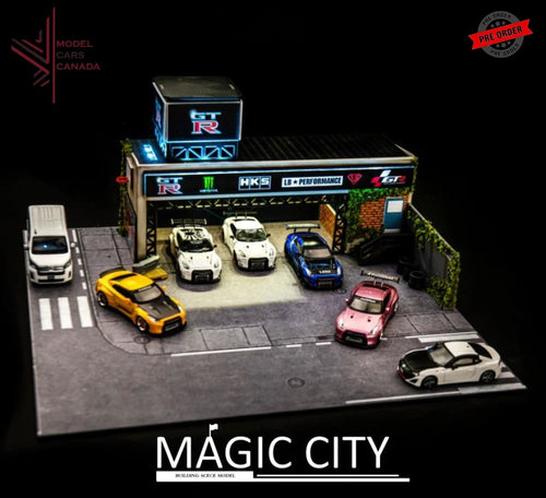 Magic City - Nissan Gt-R Tuning Garage Diorama (110014) 1:64 Scale