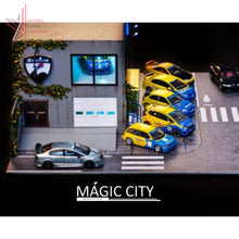 Load image into Gallery viewer, Magic City - Spoon Sports Exhibition Garage Diorama With Accessories (110010) 1:64 Scale