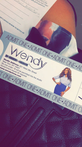 Second Row at the Wendy Williams Show