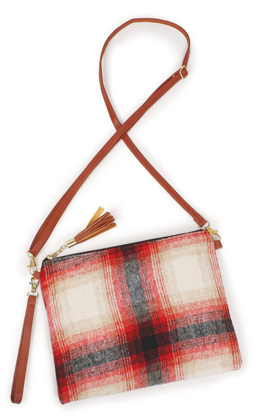 PRE-ORDER! Plaid Crossbody or Wristlet Clutch - ORDER CLOSES 12/6/20