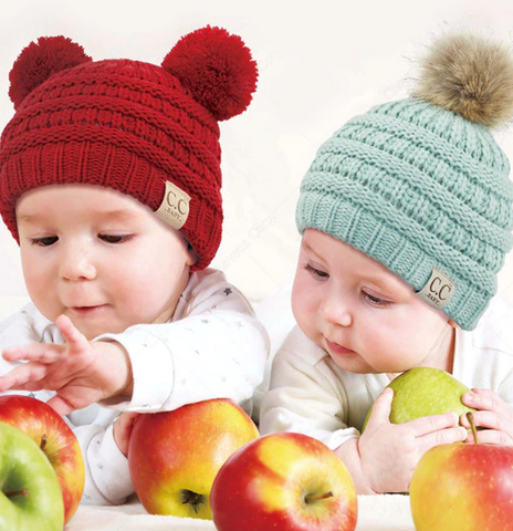 PRE-ORDER! Infant Beanie - Faux Fur Pom or Double Pom - ORDER CLOSES 12/6/20