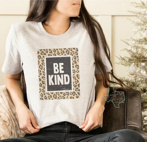 Be Kind Leopard Print