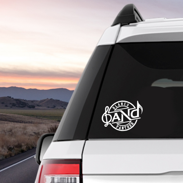 Blanco Panther Band Decal