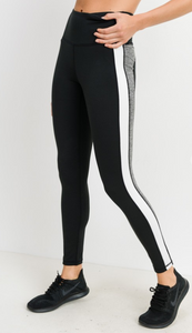 Highwaist Striped Colorblock Leggings