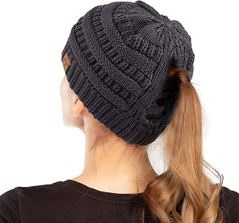 PRE-ORDER! C.C. Cross Back Pony/Messy Bun Beanie -ORDER CLOSES 12/6/20