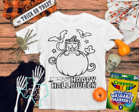 Halloween Coloring Shirt - Toddler/Youth