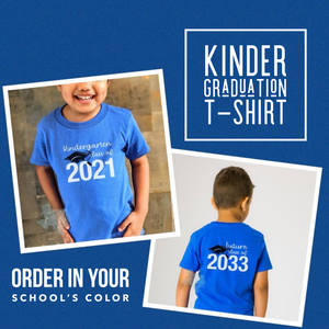 PRE-ORDER: Kindergarten Graduation Shirts - ORDER CLOSES 4/21/21 at midnight CST
