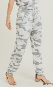 Off White/Grey Camo Joggers