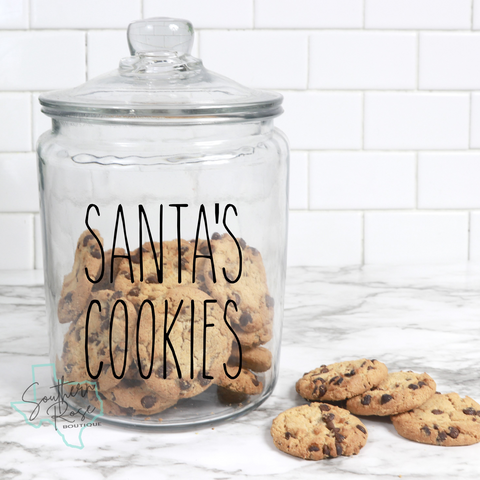 Santa's Cookies Decal