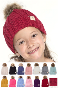 PRE-ORDER! C.C. YOUTH Lined Beanie with Pom - ORDER CLOSES 12/6/20