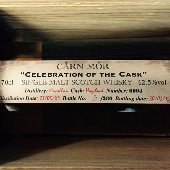 Carn Mor Celebration of the Cask