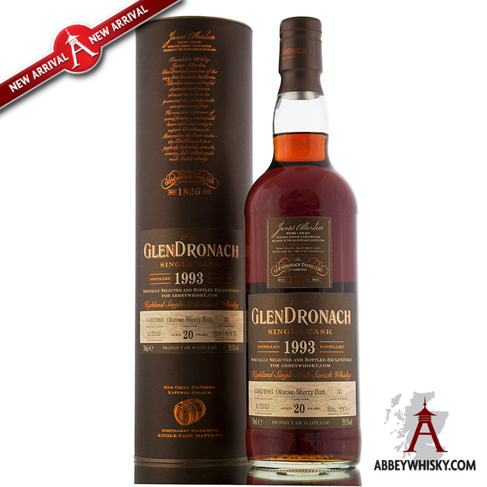 GlenDronach 1993 / 20 Year Old / Single Cask 33 / AW Exclusive