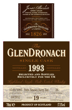 GlenDronach Single Cask 26 / 19 Year Old / UK Exclusive 3rd Release