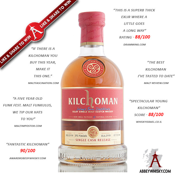 Win a bottle of Kilchoman - AW Exclusive - Single Cask Whisky!