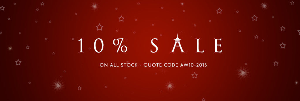 10% off all stock!