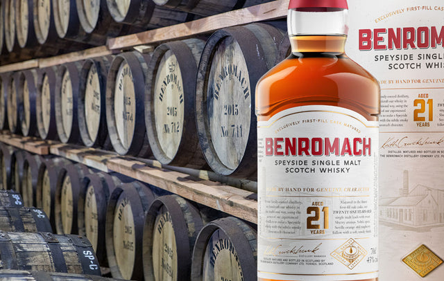Benromach single malt Scotch whisky, available to buy online at Abbey Whisky shop.