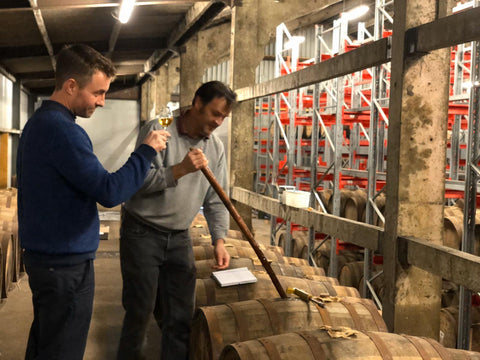 Mike from Abbey Whisky choosing a single cask Daftmill exclusive.