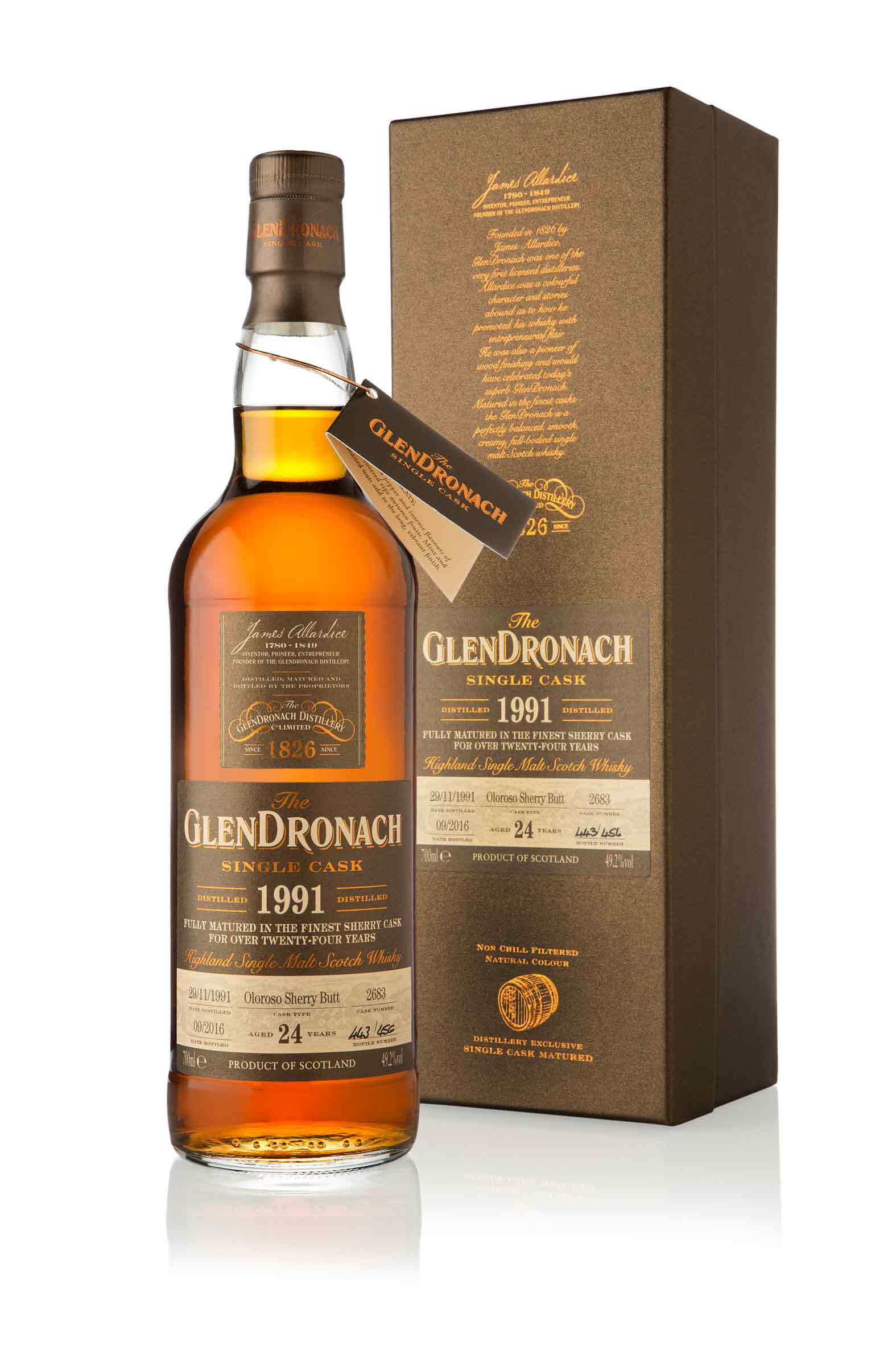 GlenDronach 24 Year Old - 1991 / Single Cask 2683 / Batch 14