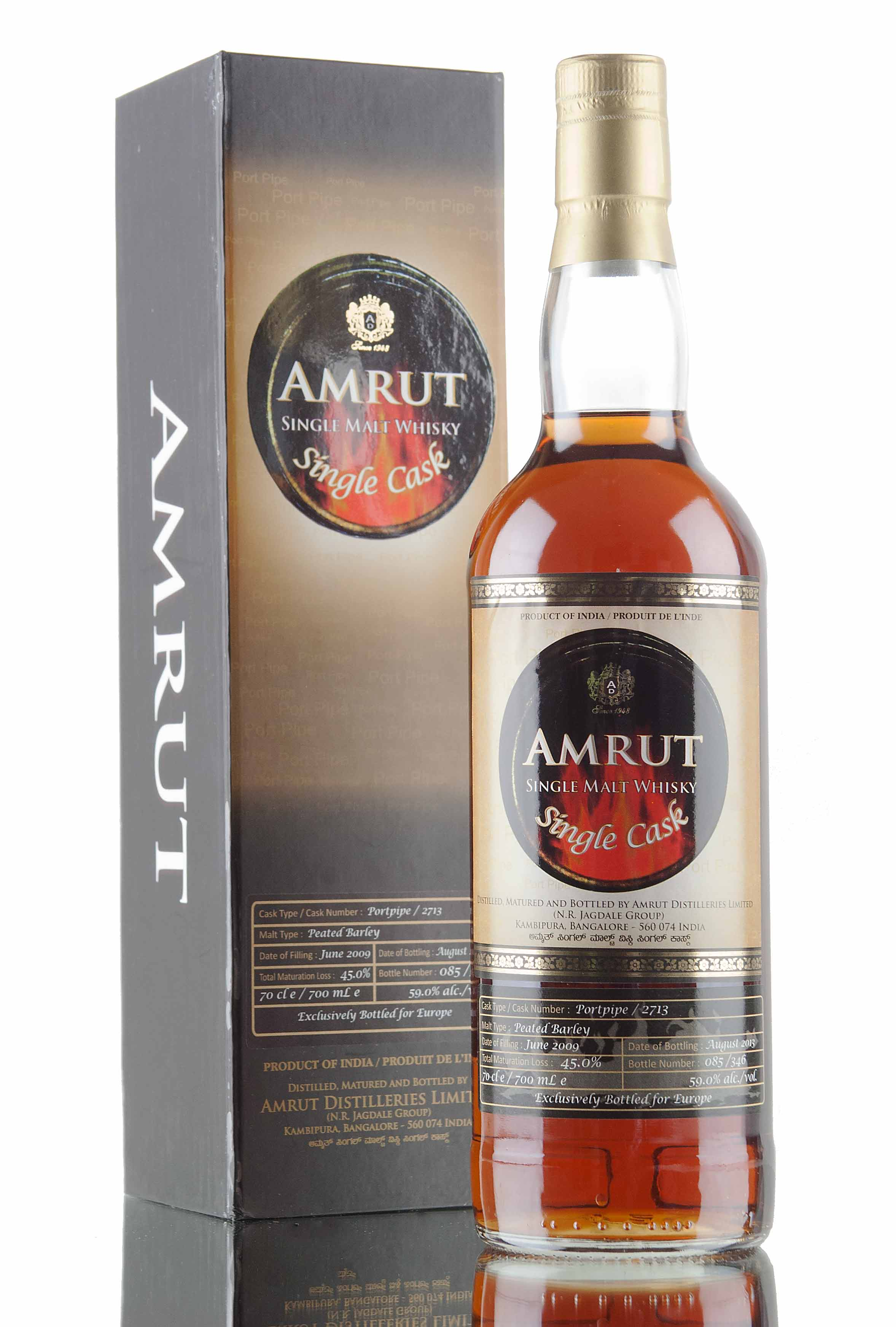 Amrut Peated Port Pipe / Cask 2713