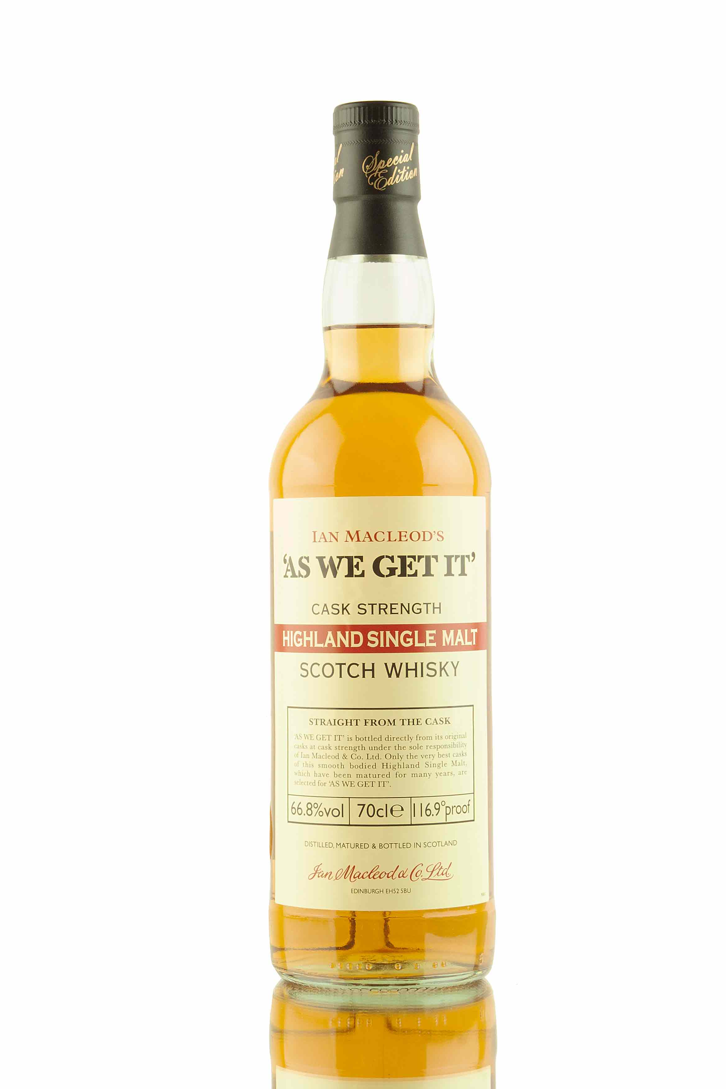 As We Get It - Highland Cask Strength - 66.8%