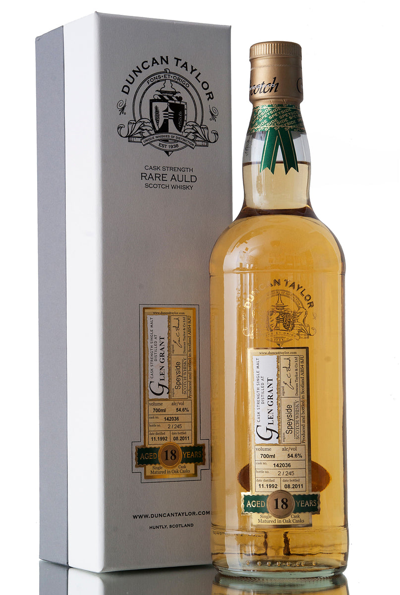 Glen Grant 18 Year Old / 1992 / Rare Auld