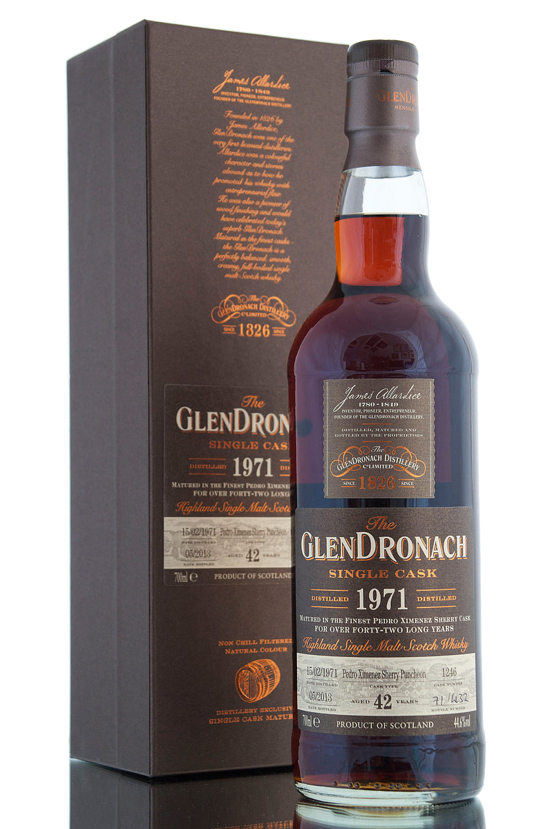 Glendronach 1971 / 42 Year Old / Cask 1246 / Batch 8