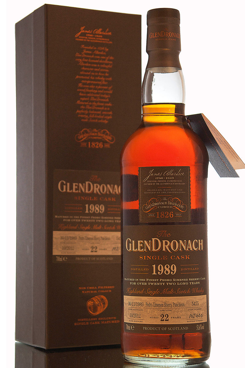 Glendronach 1989 / 22 Year Old / Cask 5475