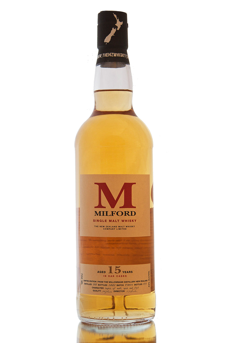 Milford 15 Year Old Single Malt Whisky