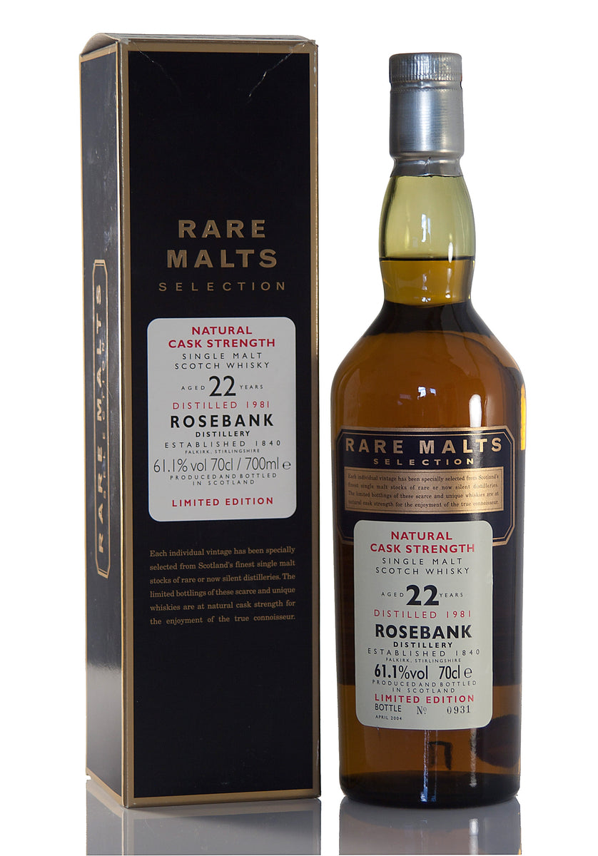 Rosebank 22 Year Old, 1981, Rare Malts