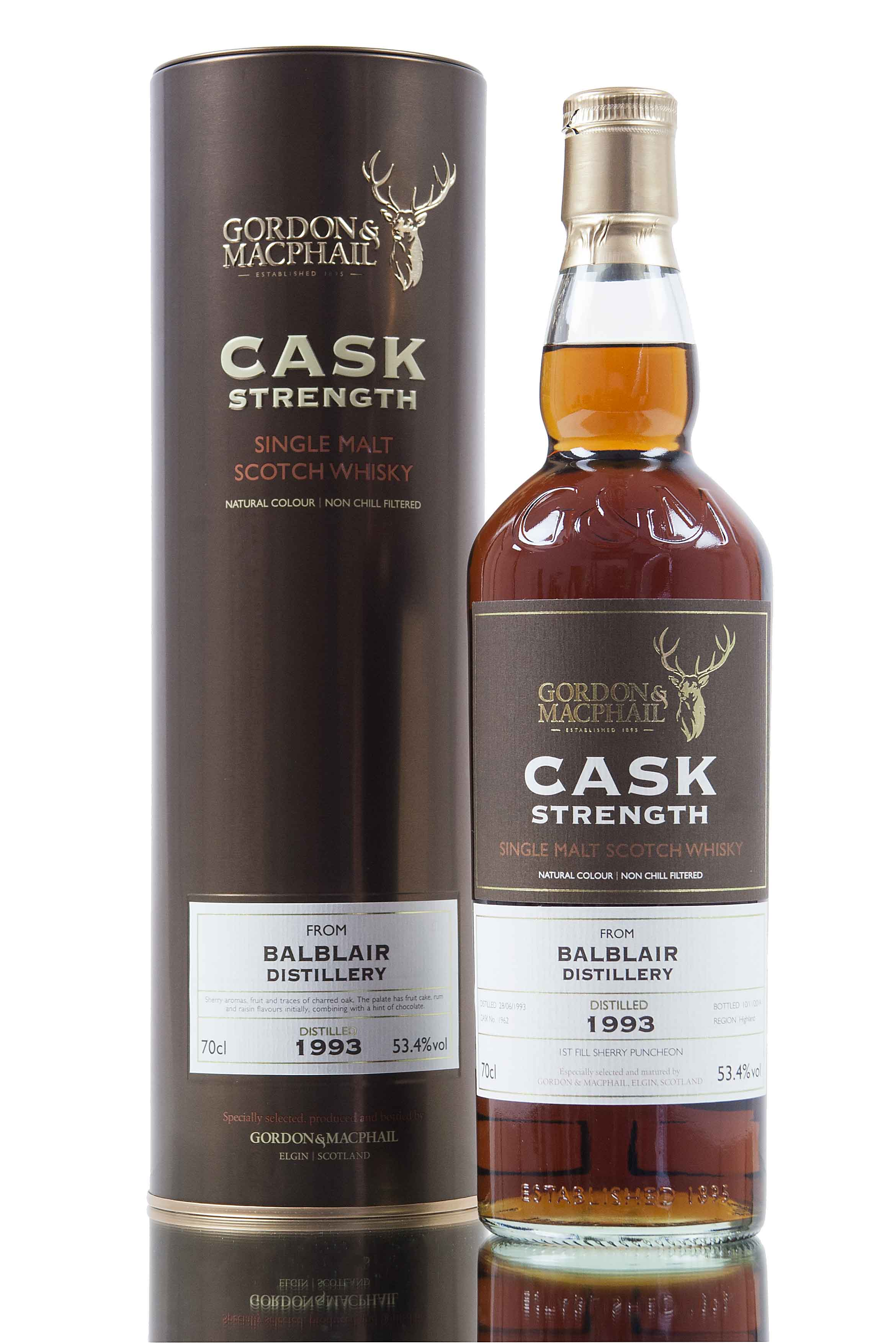 Balblair 21 Year Old - 1993 / Cask 1962 / Cask Strength (G&M)