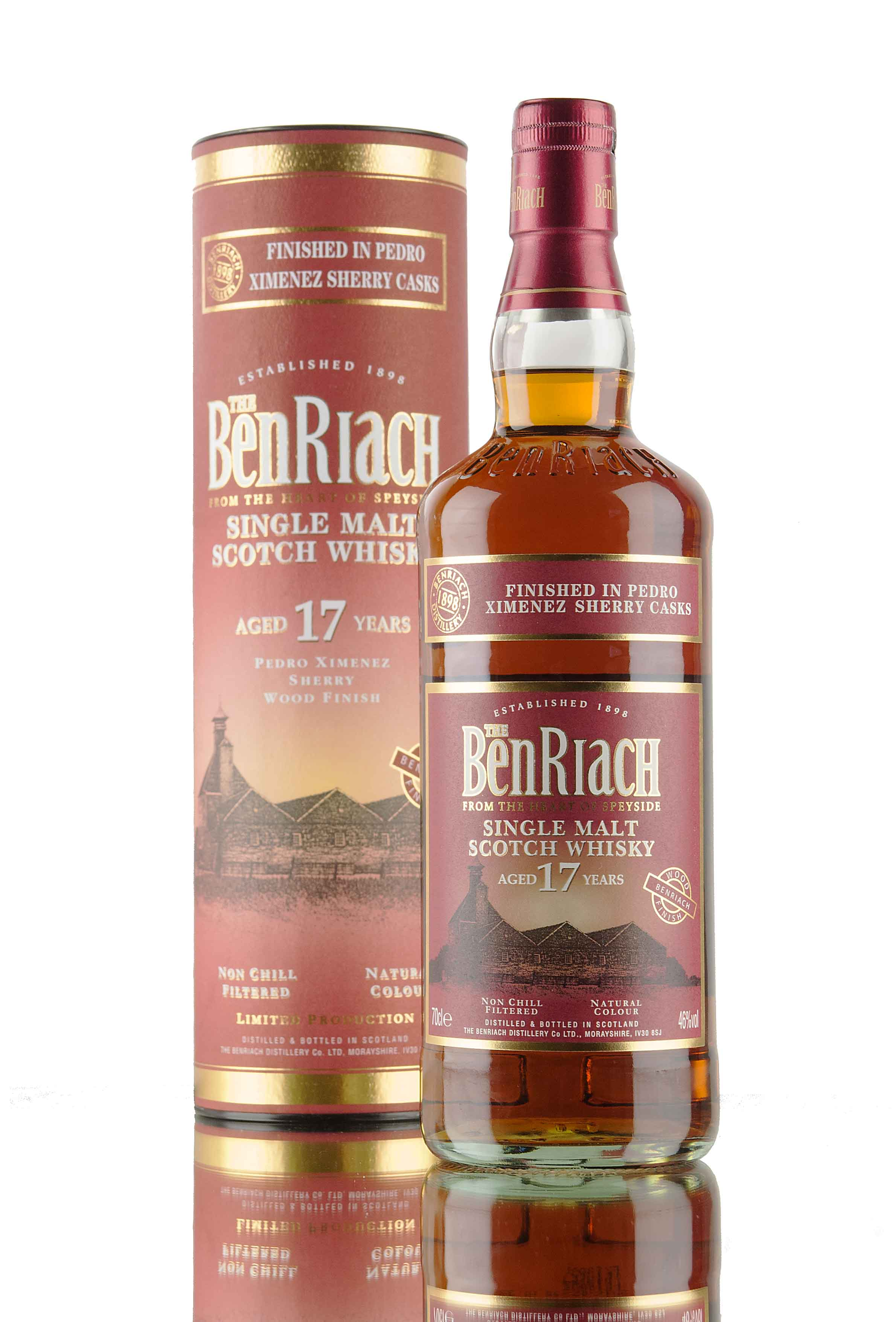 BenRiach 17 Year Old / Pedro Ximénez Sherry Wood Finish