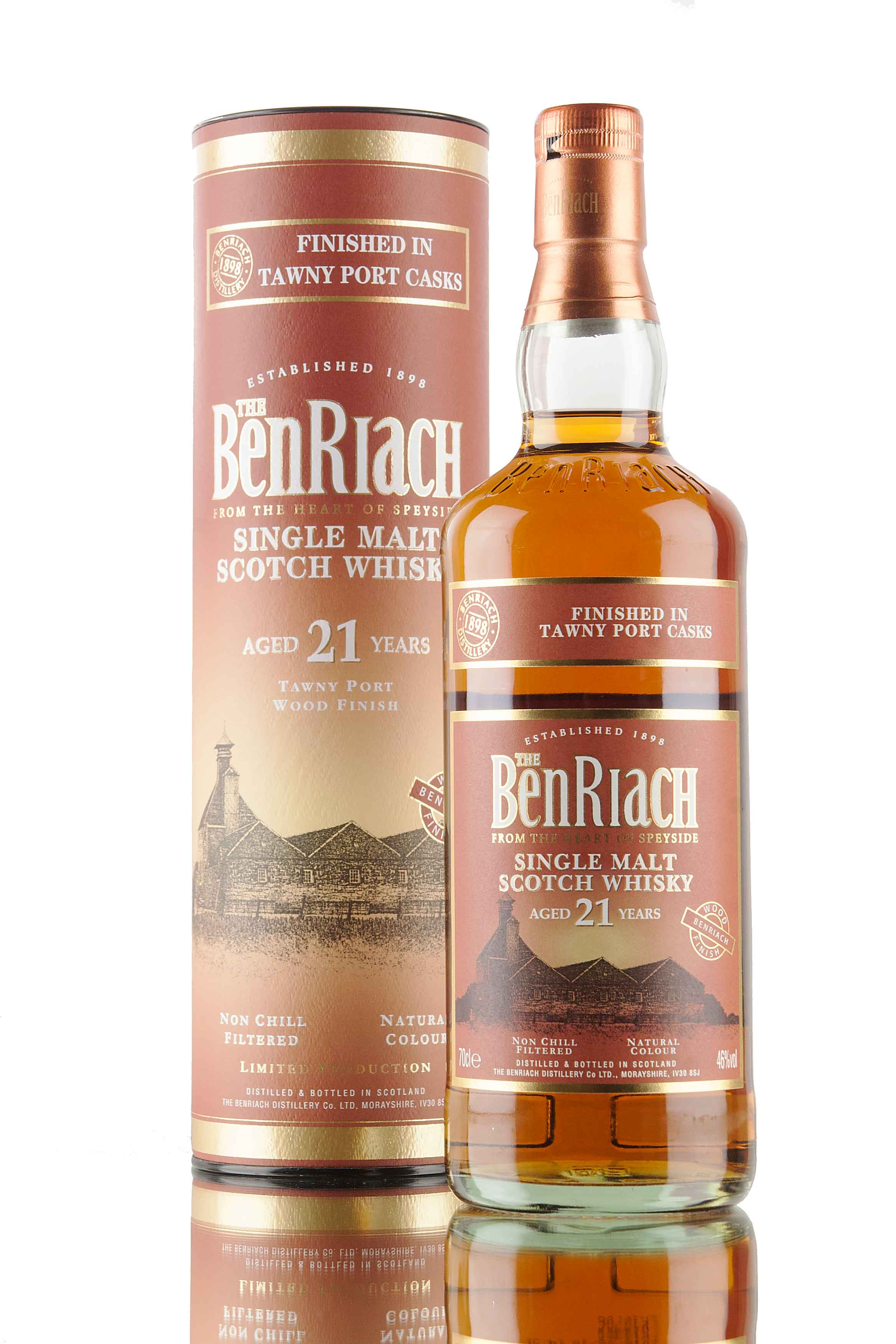 BenRiach 21 Year Old Tawny Port Wood Finish