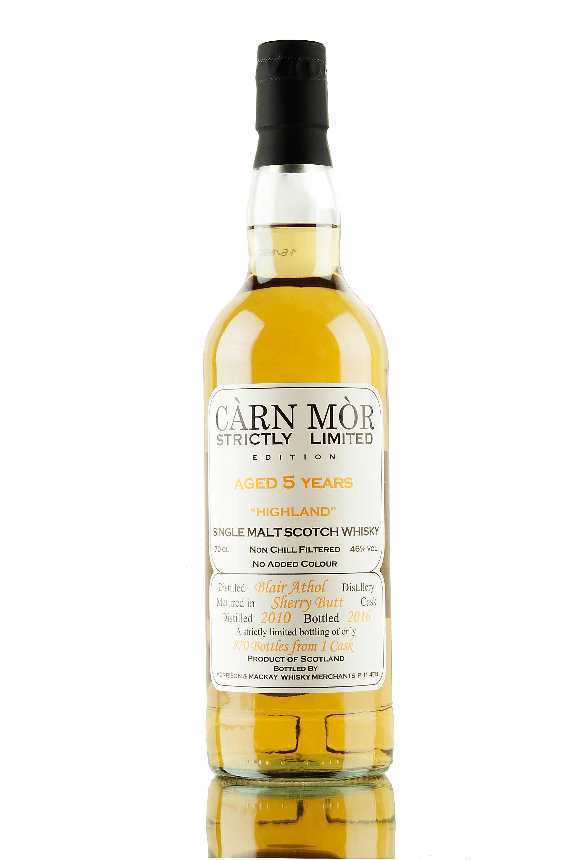 Blair Athol 5 Year Old - 2010 / Càrn Mòr Strictly Limited