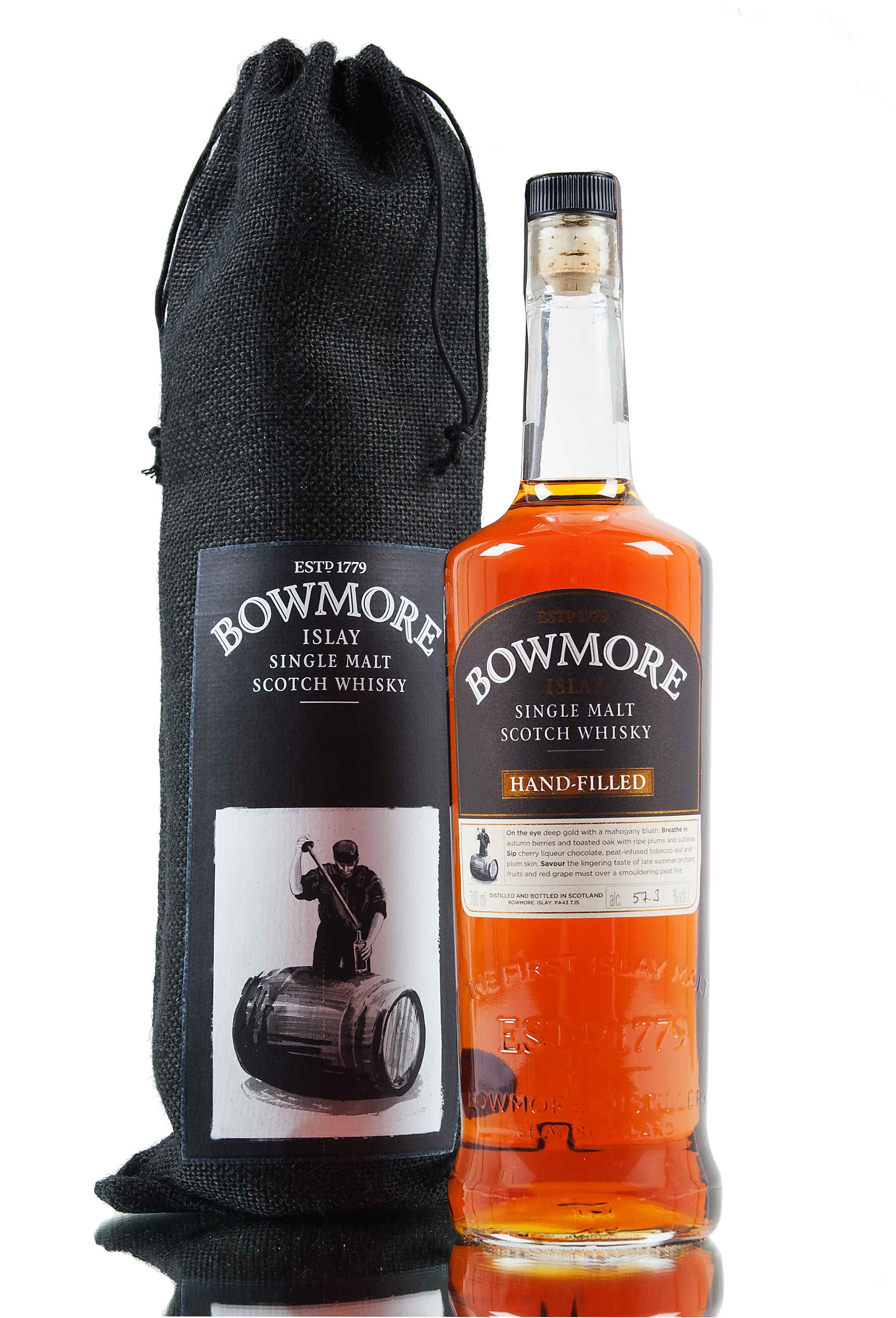 Bowmore Hand Filled 1998 - 1st Fill Bordeaux Wine Cask